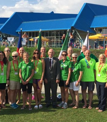 Irish Ambassador shows support to Irish team in Slovenia